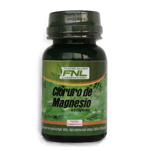 Cloruro de Magnesio 60 Caps 500 mg